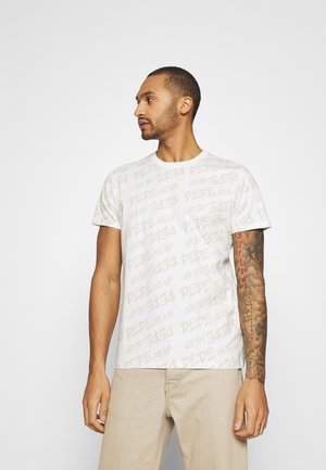 MARIO UNISEX - Print T-shirt - oyster