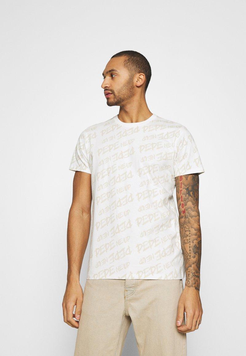 Pepe Jeans - MARIO UNISEX - T-shirt imprimé - oyster