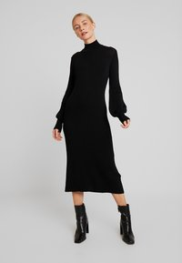 Love Copenhagen - MARIELC TURTLE NECK DRESS - Maxi dress - pitch black - 0
