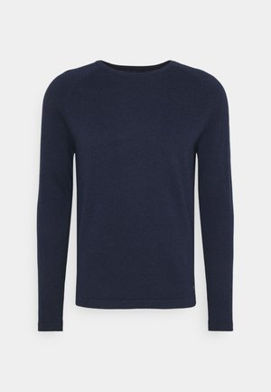 BASIC CREWNECK - Stickad tröja - sky captain blue