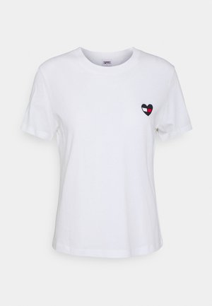 REGULAR HOMESPUN HEART TEE - T-shirt basic - white