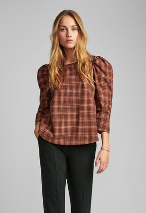 Blouse - leather brown
