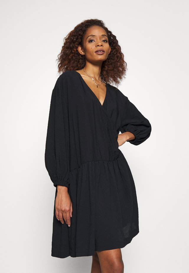 HELGA - Shirt dress - black