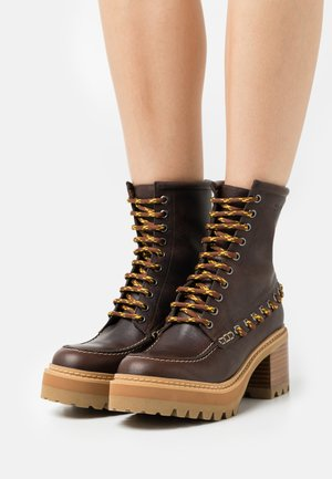 MAHALIA - Lace-up ankle boots - brown
