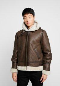 Schott - Leather jacket - brown - 0