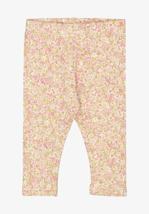Leggings - Trousers - beige ,pink