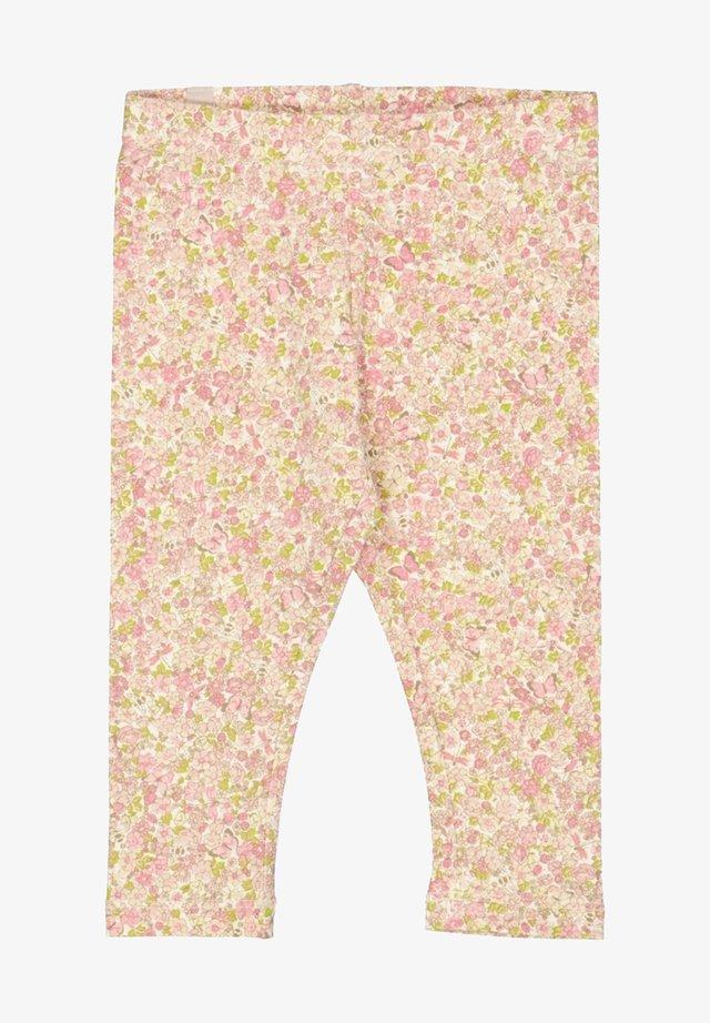 Leggings - Trousers - beige ,pink