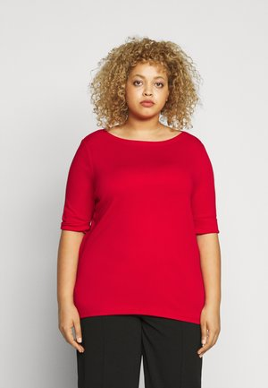 JUDY ELBOW SLEEVE - Jednoduché triko - orient red