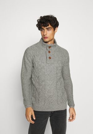 RICH - Pullover - light grey melange