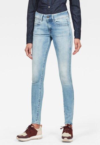 LYNN MID SKINNY - Jeans Skinny Fit - sun faded blue