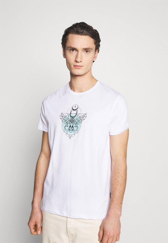 UNISEX - Print T-shirt - white