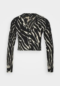 Monki - ESTHER - Long sleeved top - black/white - 4
