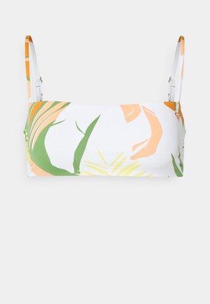 WILDFLOWERS BANDEAU - Bikini top - turf green undertone