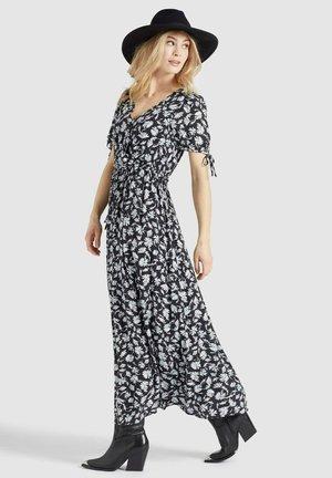 ABSENTA - Maxi dress - dunkeblau blumenmuster