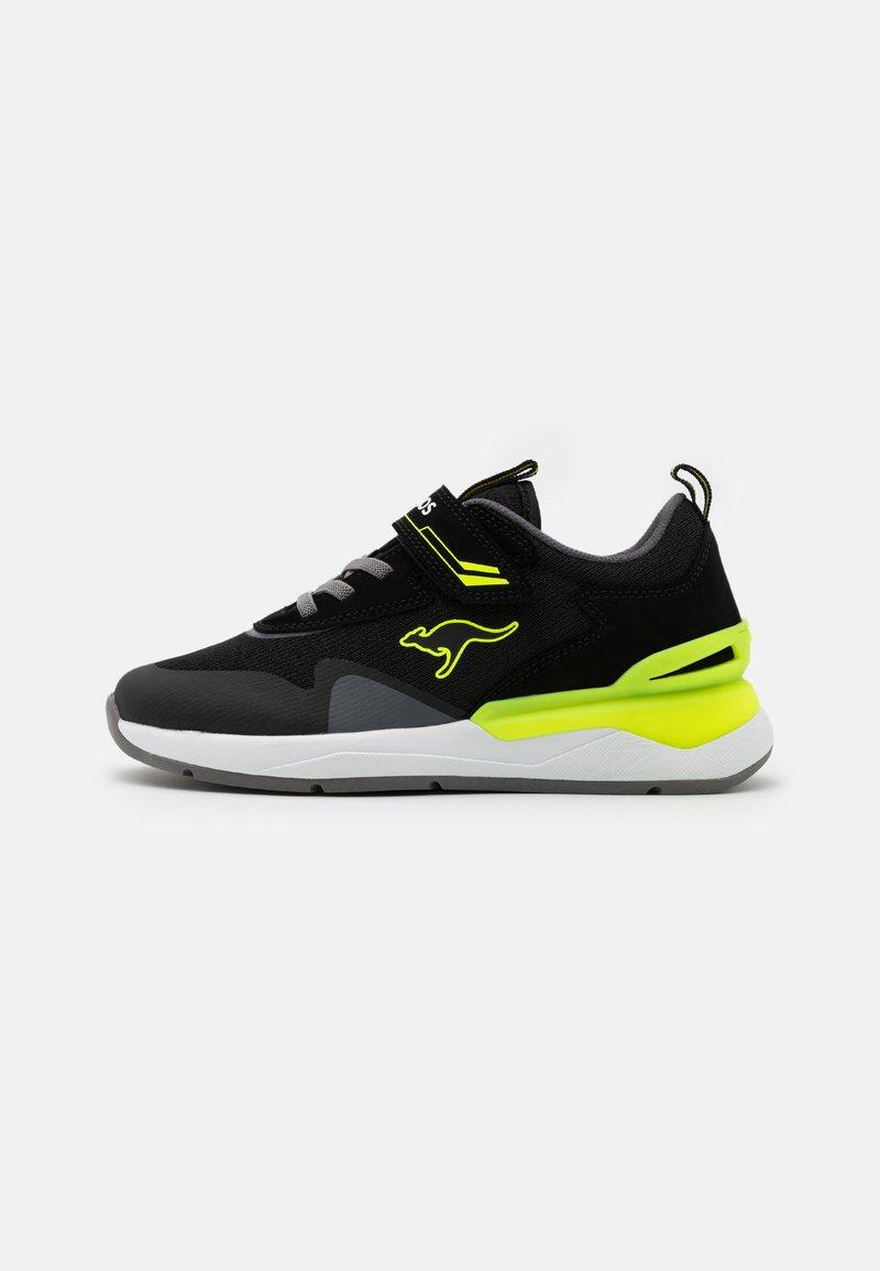 KangaROOS - KD-GYM  - Tenisky - jet black/neon yellow