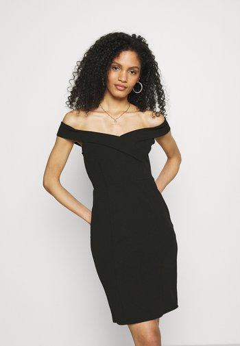 DRESS - Sukienka etui - black