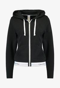 MODERN LOUNGE FULL ZIP HOODIE - Pyjama top - black