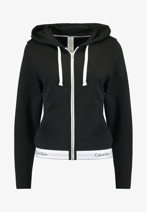MODERN LOUNGE FULL ZIP HOODIE - Mikina na zip - black