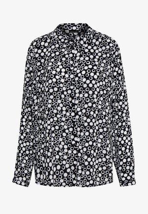 BLUSE GEMUSTERT - Skjorte - black/offwhite
