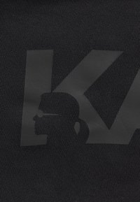 KARL LAGERFELD - BACK V NECK LOGO DRESS - Day dress - black - 3