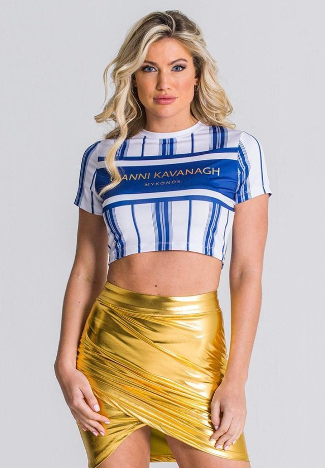 MYKONOS CROPPED  - T-shirt print - blue