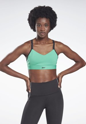 REEBOK HERO MEDIUM-IMPACT STRAPPY BRA - Sujetador deportivo - green