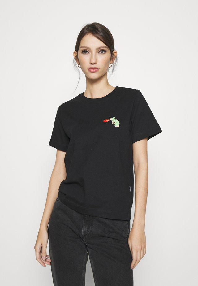 MYSEN BOWSER - T-shirt print - black