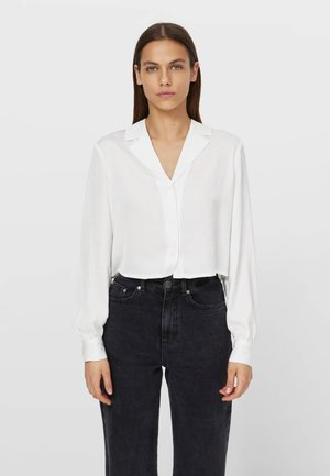 SATINIERTES - Button-down blouse - white