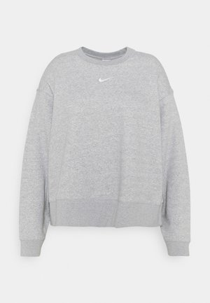 CREW PLUS - Sweatshirt - grey heather/white