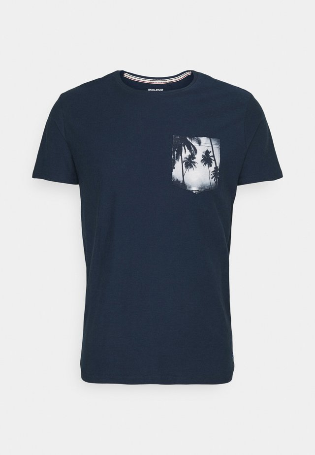 TEE - T-shirt print - dress blues