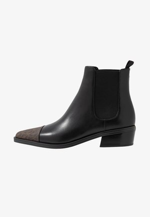 LOTTIE TOE CAP BOOTIE - Kotníkové boty - black/brown