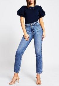 River Island - Basic T-shirt - blue - 1