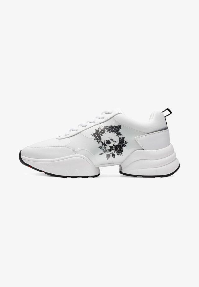 CAGED RUNNER-SKULL - Sneaker low - white
