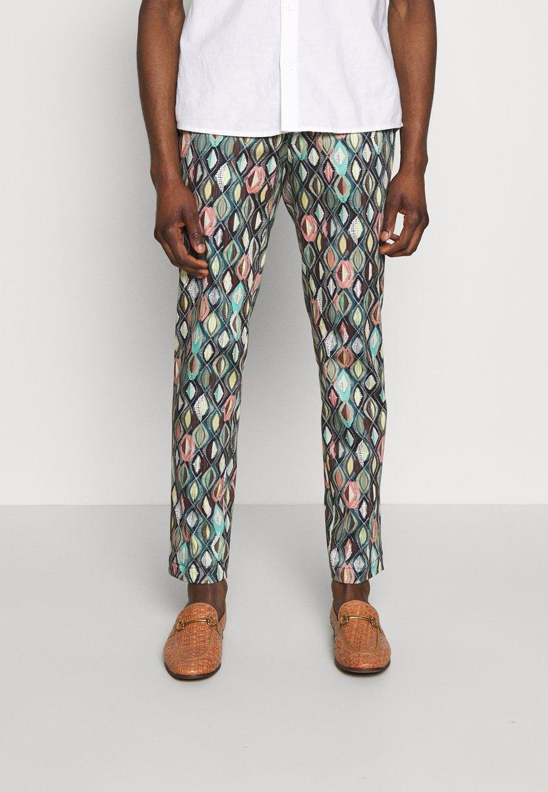 Bertoni - BLOCH TROUSER EXCLUSIVE - Trousers - black