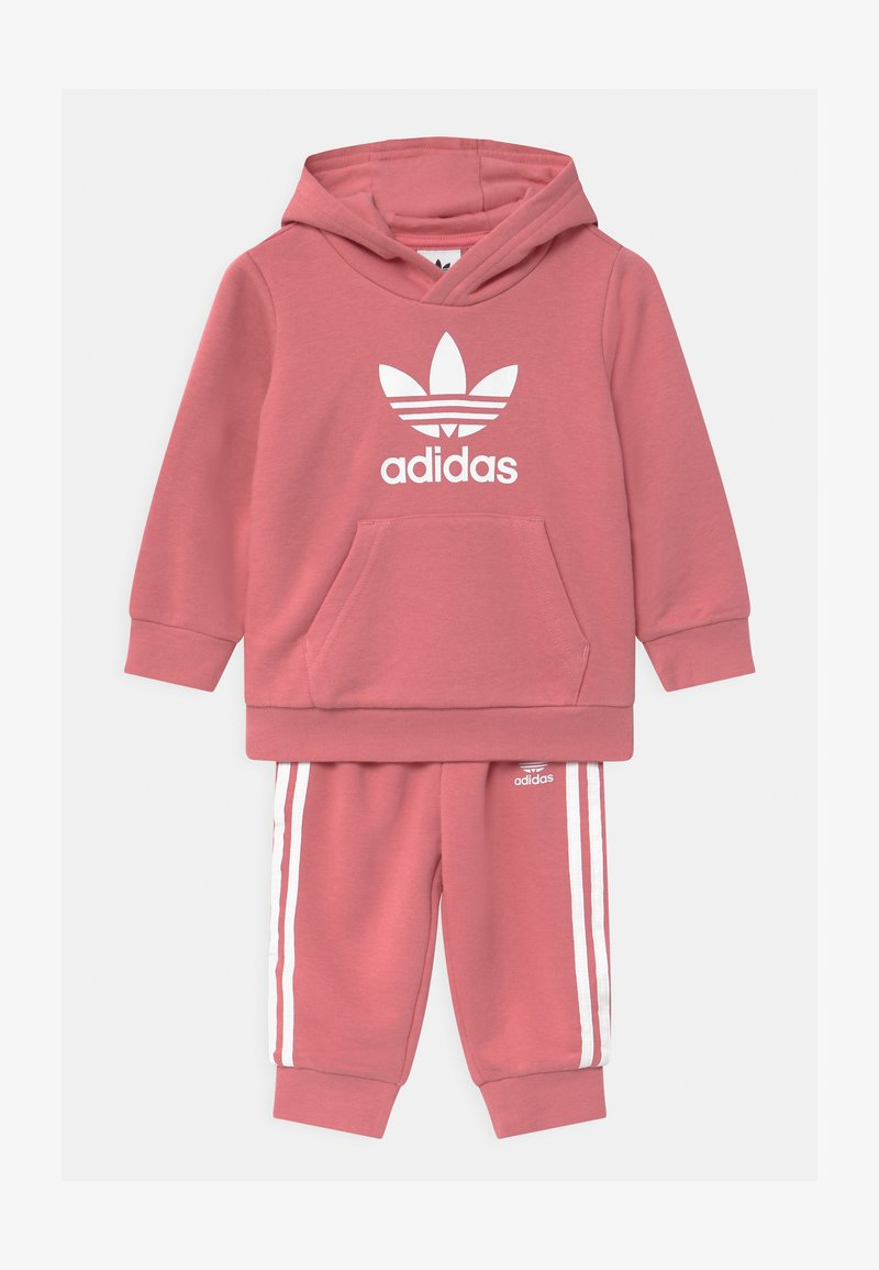 adidas Originals - TREFOIL HOODIE SET UNISEX - Verryttelypuku - hazy rose/white