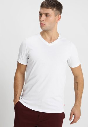 JJEPLAIN  - T-shirt - bas - white