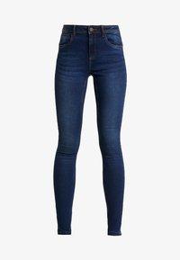 Noisy May - NMJEN SHAPER - Jeansy Skinny Fit - dark blue denim - 4
