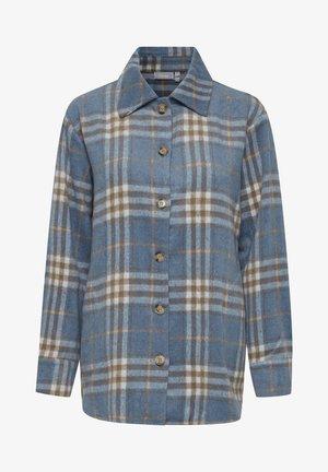 Button-down blouse - dusty blue mix