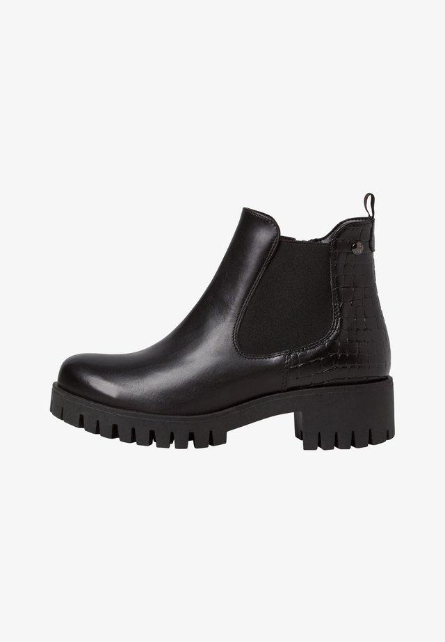 CHELSEA BOOT - Korte laarzen - black/struct.