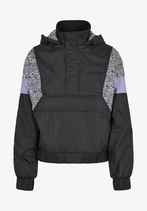 AOP MIXED PULL OVER - Light jacket - black/zebra
