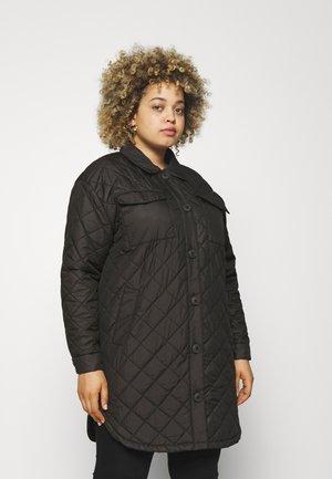 CARTANZIA LONG QUILTED SHACKET - Winter coat - black