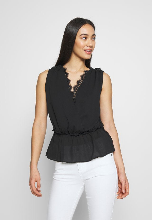 LADIES WOVEN TOP - Bluzka - black