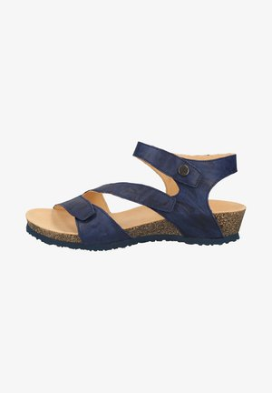 Sandały na koturnie - indigo