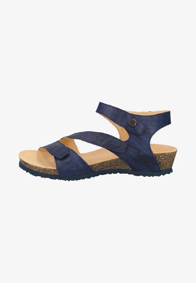 Sandales compensées - indigo