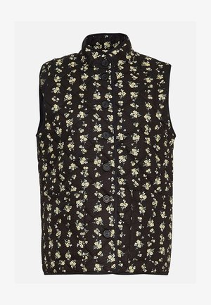 CLARABEL - Bodywarmer - black flowers