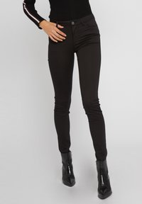 Morgan - STANDARD WAISTED SKINNY TROUSERS - Jeans Skinny Fit - black - 0