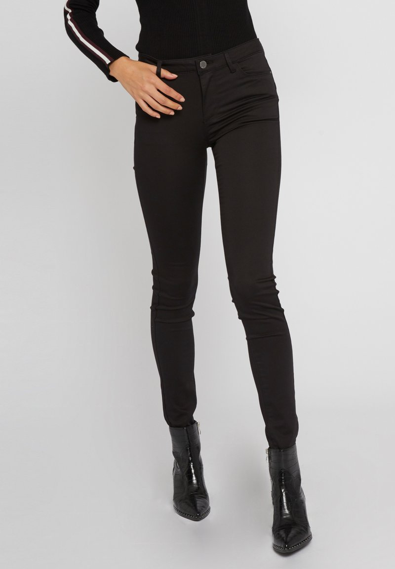 Morgan - STANDARD WAISTED SKINNY TROUSERS - Jeans Skinny Fit - black