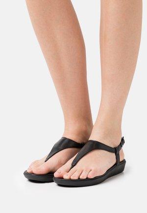 LAINEY TOE POST  - T-bar sandals - all black