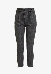 Vero Moda - VMEVA PAPERBAG CHECK PANT - Pantalones - dark grey melange/grey/brown - 4