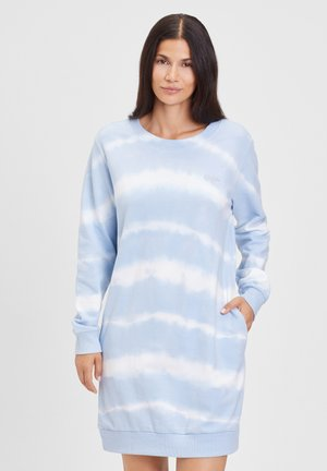 Abito in maglia - hellblau gebatikt